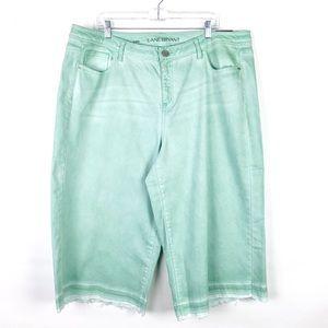 NWT Lane Bryant Mint Green Release Hem Capri Jeans